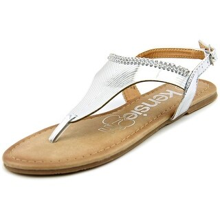 Kensie Girl KG31598 Youth Open Toe Synthetic Silver Thong Sandal