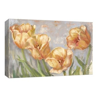 """PTM Images 9-153642  PTM Canvas Collection 8"""" x 10"""" - """"Yellow Tulips"""" Giclee Flowers Art Print on Canvas"""