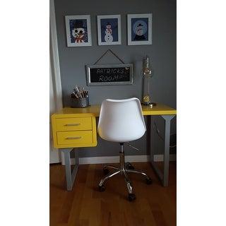 Retro Yellow and Grey Writing Desk
