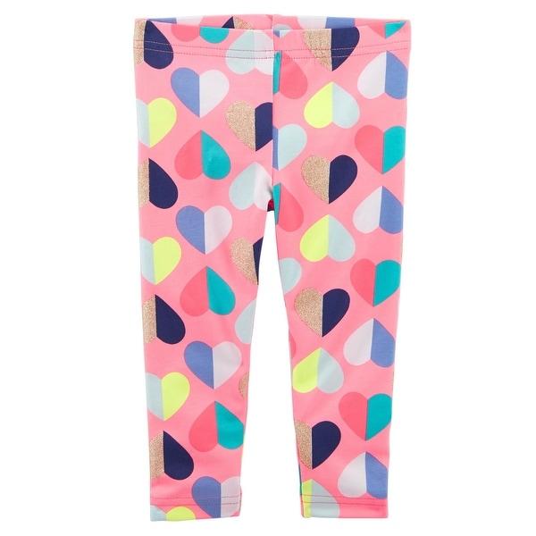 f0e2213992012 Shop Carter's Little Girls' Heart Capri Leggings, 3-Toddler - 3T - Free  Shipping On Orders Over $45 - Overstock - 27032961