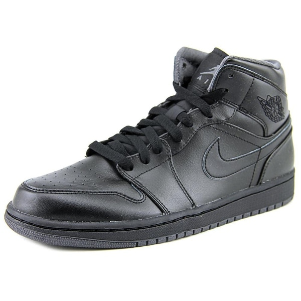 Jordan Retro 1 Mid Round Toe Leather Basketball Shoe