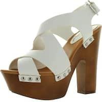 Breckelles Renee-23 Chunky High Heel Platform Sandals