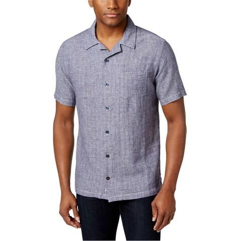 Weatherproof Mens Vintage Grid Button Up Shirt