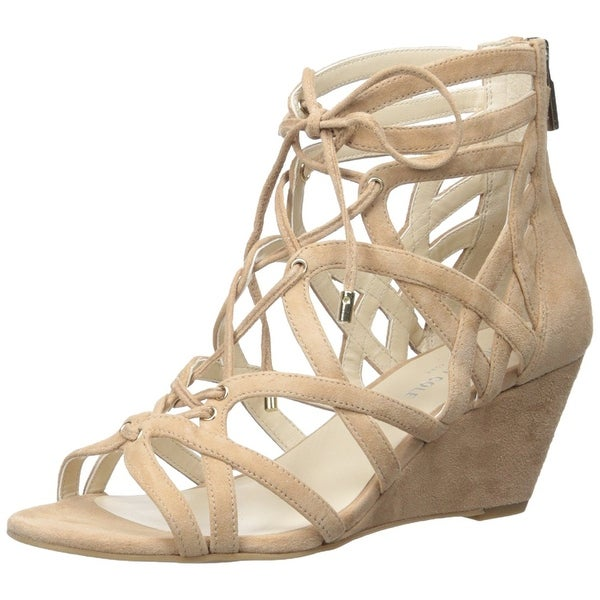 Kenneth Cole New York Womens Dylan Suede Open Toe Casual Platform Sandals