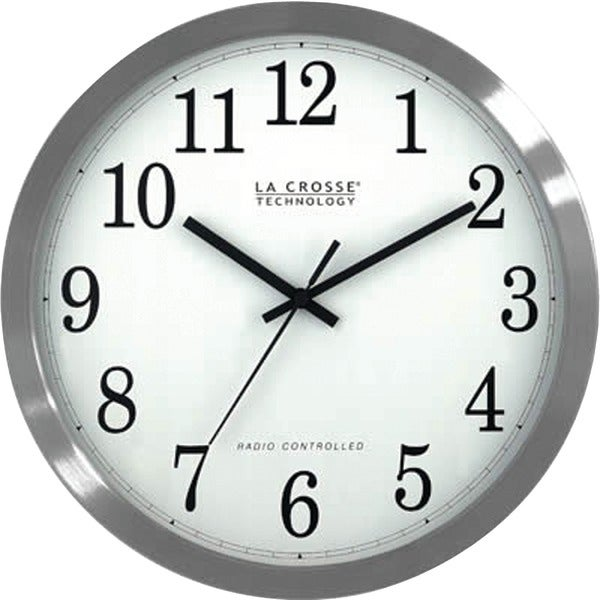 "La Crosse Technology Wt-3126B 12"" Stainless Steel Atomic Wall Clock"