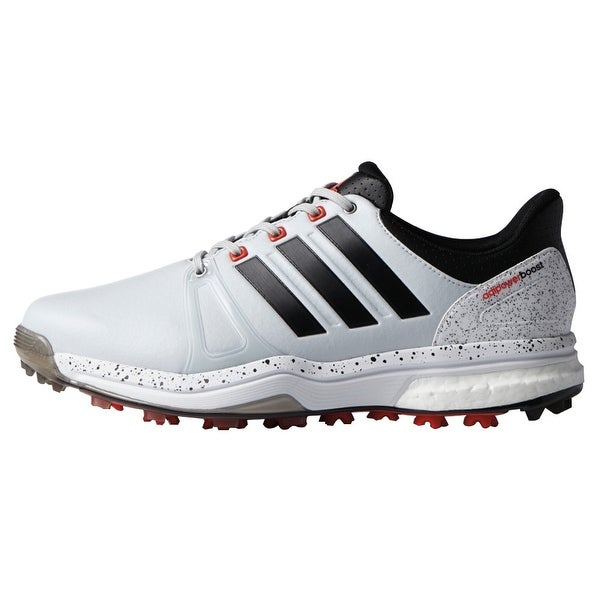 d42be2a2d4e4 Shop Adidas Men s Adipower Boost 2 Clear Grey Black White Golf Shoes ...