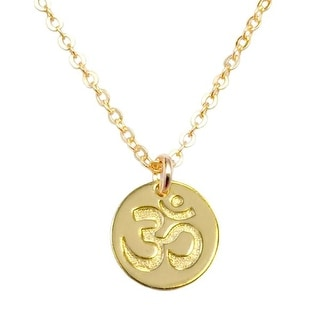 "Julieta Jewelry Om Gold Charm 16"" Necklace"