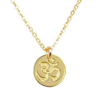 """Julieta Jewelry Om Gold Charm 16"""" Necklace https://ak1.ostkcdn.com/images/products/is/images/direct/475fa9cc5ff538e36ea16343d9be779fee702187/Julieta-Jewelry-Om-Gold-Charm-16%22-Necklace.jpg?impolicy=medium"""