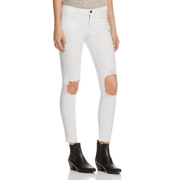 Frame Denim Womens Skinny Jeans Destroyed Cropped - Free Shipping ...
