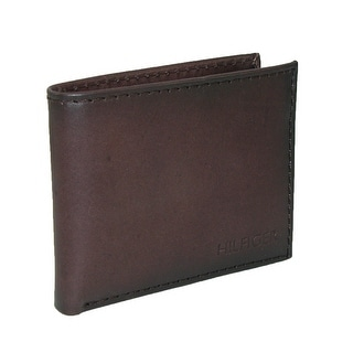 Tommy Hilfiger Men's Leather Bridgewater Passcase Bilfold Wallet - Brown - One size