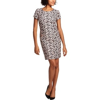 Tommy Hilfiger Womens Wear to Work Dress Lace Floral Print