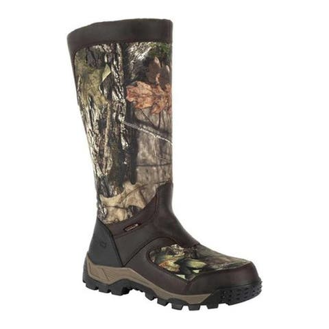 "Rocky Men's 16"" Sport Pro WP Side-Zip Snake Boot RKS0406 Mossy Oak BreakUp Country Full Grain Leather/Nylon"