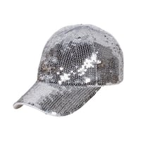 Glitter Sequin Elastic Fit Baseball Hat