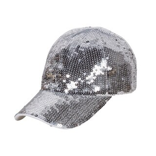 Glitter Sequin Elastic Fit Baseball Hat (4 options available)