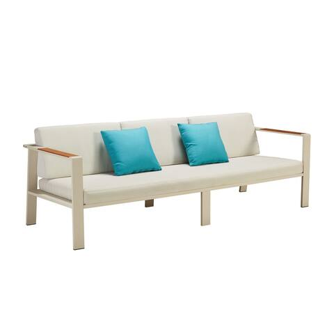 Pasargad Home Gilano Outdoor 5 Piece Contemporary Seating Set with Cushions