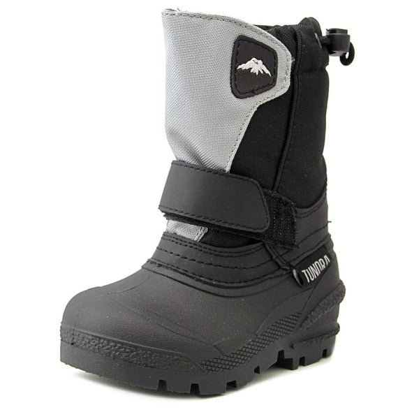 Tundra Quebec Youth Round Toe Synthetic Black Snow Boot