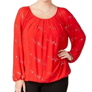 NY Collection NEW Red Women's 3X Plus Embellished Scoop-Neck Blouse|https://ak1.ostkcdn.com/images/products/is/images/direct/47637e0a6794a4ca4293a304dcf13dafc603a9b2/NY-Collection-NEW-Red-Women%27s-3X-Plus-Embellished-Scoop-Neck-Blouse.jpg?impolicy=medium