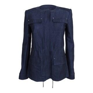Tommy Hilfiger Women's Polished Denim Bungee Jacket - INDIGO