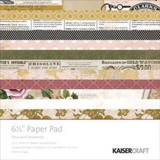 "Treasured Moments - Kaisercraft Paper Pad 6.5""X6.5"" 40/Pkg"