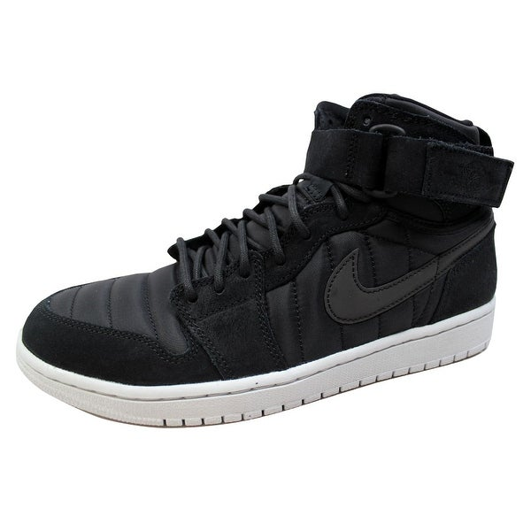 b7a5ce92027c97 Shop Nike Men s Air Jordan 1 High Strap Black Black-Pure Platinum ...