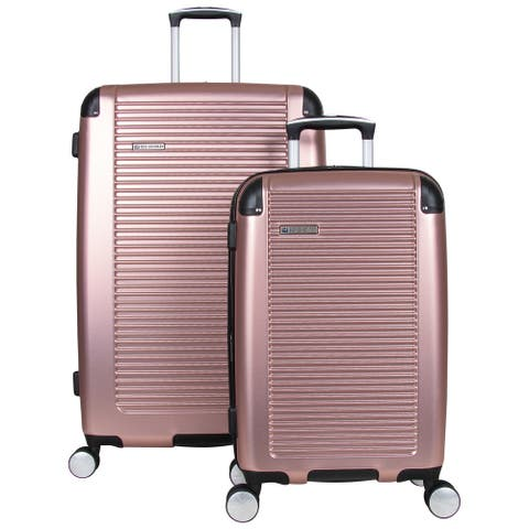 """Ben Sherman Norwich 2-Pc 20""""/28"""" Carry-On And Checked Size Hardside PET Expandable 8-Wheel Spinner Luggage Set - Multiple Colors"""