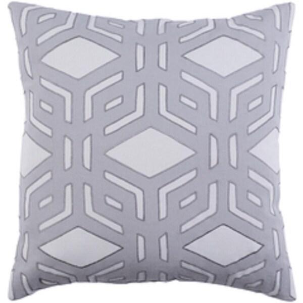"20"" Rhomboidal Tribe Gargoyle Gray Woven Decorative Throw Pillow - Down Filler"