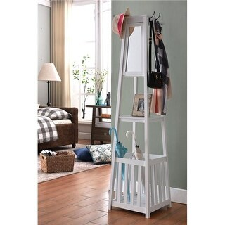 Inroom Furniture Designs Coat Rack - White, 71 x 17 x 17 in.