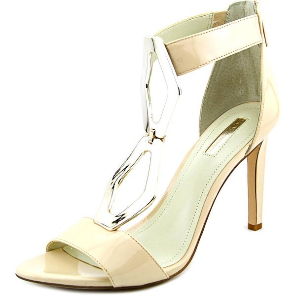 BCBGeneration Cayce Women Open Toe Patent Leather Ivory Sandals