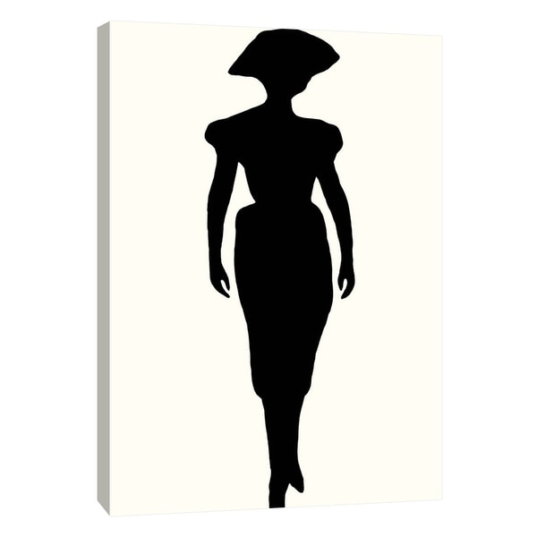 """PTM Images 9-108919 PTM Canvas Collection 10"""" x 8"""" - """"Fashion Icon Series 1940's"""" Giclee Silhouettes Art Print on Canvas"""