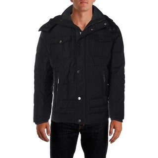 London Fog Mens Down Quilted Coat - S