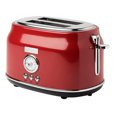 Haden Dorset 2 Slice, Wide Slot, Stainless Steel Toaster