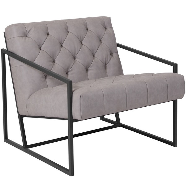 "Tufted Lounge Chair - 29""W x 31.75""D x 27.5""H. Opens flyout."