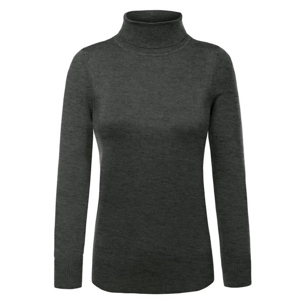 NE PEOPLE Womens Knit Turtle Neck Long Sleeve Pullover Sweater