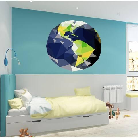Earth Polygonal Wall Decal