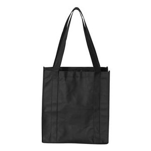 Non-Woven Classic Shopping Bag - Black - One Size