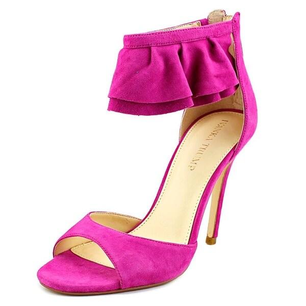 Ivanka Trump Herlle Women Open-Toe Suede Purple Heels
