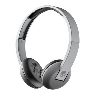 Skullcandy Uproar Bluetooth Wireless On-Ear Headphones with Built-In Mic and Remote, Grey