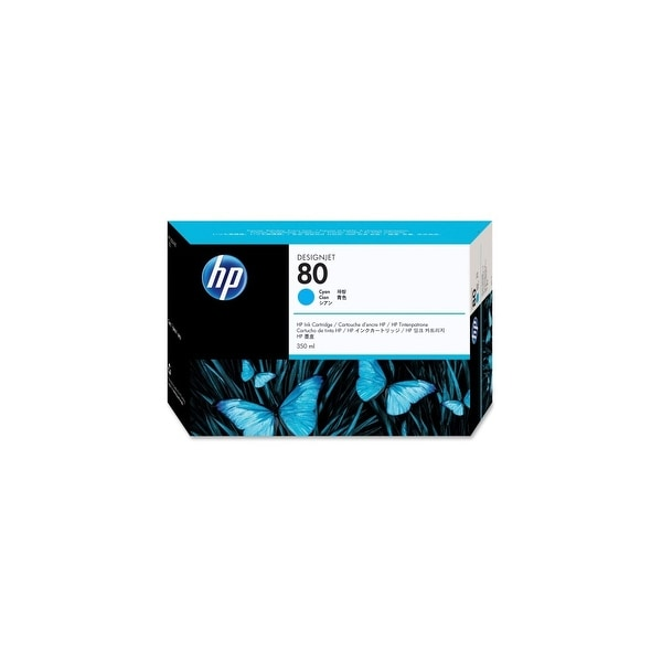 HP 80 350-ml Cyan DesignJet Ink Cartridge (C4846A) (Single Pack)