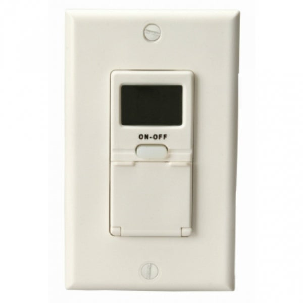 Woods 59018 In-Wall 7-Day Digital Programmable Timer, White