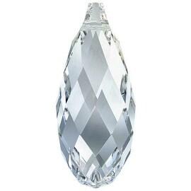 Swarovski Crystal, 6010 Briolette Pendants 13x6.5mm 2 Pieces, Crystal Blue Shade