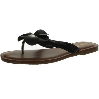 Bamboo Women Warner-31 Flower Thong Sandals