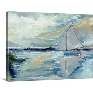 """""""Boat On The Broads"""" Canvas Wall Art"""