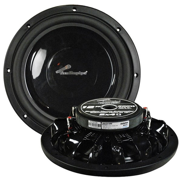 """Audiopipe 12"""" Shallow Mount Woofer 500W Max 4 Ohm DVC"""