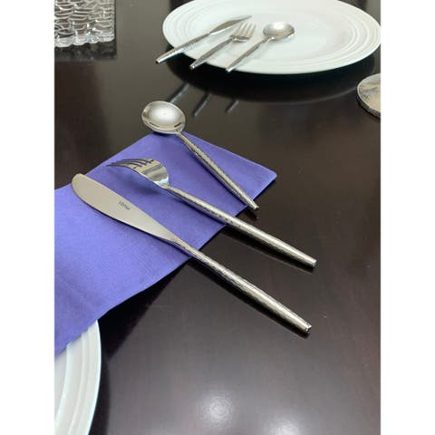 VIBHSA Dinner knives, Dinner Forks, Soup Spoons (18 Pieces)