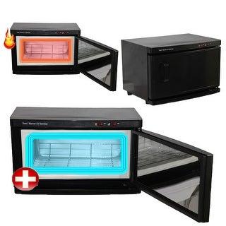 InkBed Black High Capacity Hot Towel Cabinet & UV Sterilizer Warmer