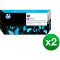 HP 81 Magenta DesignJet Dye Printhead & Printhead Cleaner (C4952A) (2-Pack)