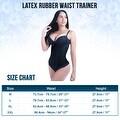 Women's Latex Rubber Waist Cincher Trimmer Belt Corset Underbust Body Shapewear - Thumbnail 1