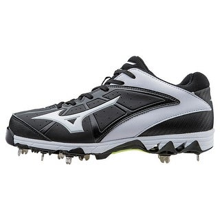 Mizuno Womens 9-Spike Swift 4 Low Top Lace Up Baseball Shoes - BLACK/WHITE - 12