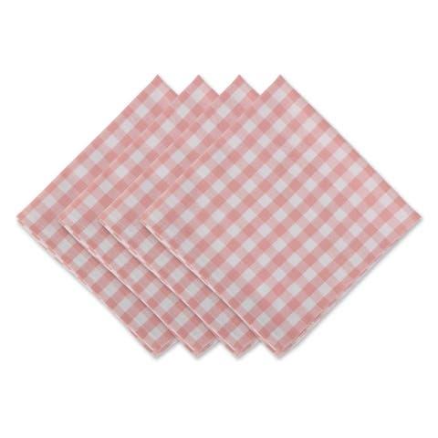 DII Pink & White Gingham Napkin Set, 4 Piece