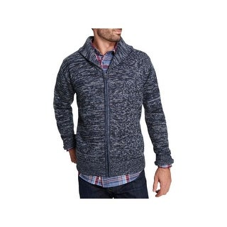 Weatherproof Mens Cardigan Sweater Shawl Collar Knit
